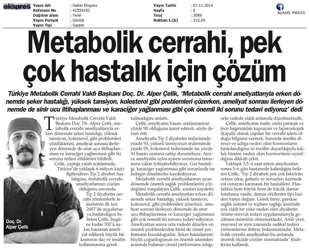 عنوان خبر: عمل جراحی متابولیک راه مقابله با چندین بیماری
